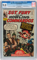 Silver Age (1956-1969):War, Sgt. Fury and His Howling Commandos #1 (Marvel, 1963) CGC VF/NM 9.0 Off-white to white pages....