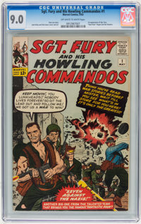 Sgt. Fury and His Howling Commandos #1 (Marvel, 1963) CGC VF/NM 9.0 Off-white to white pages