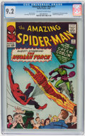Silver Age (1956-1969):Superhero, The Amazing Spider-Man #17 (Marvel, 1964) CGC NM- 9.2 Off-white to white pages....