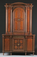 Furniture : Continental, A CONTINENTAL BRONZE MOUNTED MAHOGANY CABINET. Northern Germany,18th Century and later. 87-1/2 x 56-5/8 x 19 inches (222.3 ...