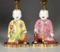 Asian:Chinese, A PAIR OF CHINESE PORCELAIN FIGURES. 19th Century. 6-1/2 inches(16.5 cm) high, each. ... (Total: 4 Items)