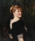 Fine Art - Painting, American:Antique  (Pre 1900), JULIAN RUSSELL STORY (American, 1857-1919). Portrait of a Woman. Oil on canvas. 30-1/2 x 25 inches (77.5 x 63.5 cm). ...