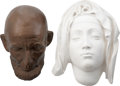 Movie/TV Memorabilia:Original Art, Abraham Lincoln Life Mask with Pieta Bust.... (Total: 2 )