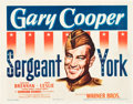"Movie Posters:War, Sergeant York (Warner Brothers, 1941). Title Lobby Card (11"" X14"").. ..."