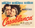 "Movie Posters:Drama, Casablanca (Warner Brothers, 1942). Title Lobby Card (11"" X 14"").. ..."