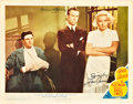 """Movie Posters:Film Noir, The Postman Always Rings Twice (MGM, 1946). Autographed Lobby Card (11"""" X 14"""").. ..."""