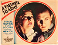 "Movie Posters:Drama, A Farewell to Arms (Paramount, 1932). Autographed Lobby Card (11"" X14"").. ..."