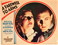 "A Farewell to Arms (Paramount, 1932). Autographed Lobby Card (11"" X 14"")"