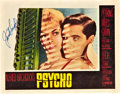 "Movie Posters:Hitchcock, Psycho (Paramount, 1960). Autographed Lobby Card (11"" X 14"").. ..."