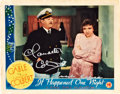 """Movie Posters:Comedy, It Happened One Night (Columbia, R-1937). Autographed Lobby Card(11"""" X 14"""").. ..."""