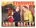 "Movie Posters:Western, Annie Oakley (RKO, 1935). Lobby Card (11"" X 14"").. ..."