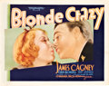 "Movie Posters:Comedy, Blonde Crazy (Warner Brothers, 1931). Title Lobby Card (11"" X14"").. ..."