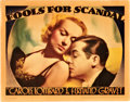 """Movie Posters:Comedy, Fools for Scandal (Warner Brothers, 1938). Lobby Card (11"""" X 14"""")....."""