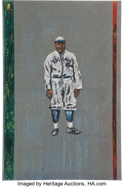 Rube Foster Original Painting Baseball Collectibles