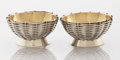 Silver Holloware, American:Open Salts, A BOXED PAIR OF AMERICAN SILVER AND SILVER GILT SALTS. GorhamManufacturing Co., Providence, Rhode Island, 1870. Marks: (lio...(Total: 2 Items)