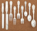 Silver Flatware, American:Tiffany, AN AMERICAN SILVER FLATWARE SERVICE. Tiffany & Co., New York,New York, circa 1880. Marks: TIFFANY & CO., STERLING, PAT.1... (Total: 96 Items)