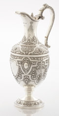 Silver Holloware, British:Holloware, A SCOTTISH VICTORIAN SILVER WINE JUG. W & W Logan, Glasgow,Scotland, 1876-1877. Marks: (lion rampant), (tree, fish &bell),...