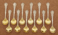 Silver Flatware, American:Tiffany, A SET OF AMERICAN SILVER AND SILVER GILT ICE CREAM SPOONS. Tiffany& Co., New York, New York, circa 1900. Marks: TIFFANY&... (Total: 12 Items)