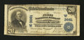 National Bank Notes:Colorado, Glenwood Springs, CO - $20 1902 Plain Back Fr. 652 The First NB Ch.# (W)3661. ...