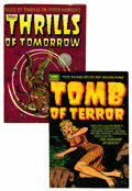 Golden Age (1938-1955):Horror, Tomb of Terror and Thrills of Tomorrow - File Copy Group (Harvey,1953-54) Condition: Average VF.... (Total: 2 Comic Books)