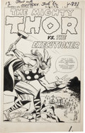 Original Comic Art:Splash Pages, Jack Kirby and Dick Ayers Journey Into Mystery #84 SecondAppearance of Thor Splash Page Original Art (Marvel, 196...