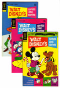 Bronze Age (1970-1979):Cartoon Character, Walt Disney's Comics and Stories File Copy Group (Gold Key,1972-74) Condition: Average VF/NM.... (Total: 10 Comic Books)