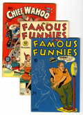 Golden Age (1938-1955):Miscellaneous, Famous Funnies and Big Chief Wahoo File Copy Group (Eastern Color, 1943-46) Condition: Average FN+.... (Total: 10 Comic Books)