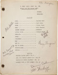 Movie/TV Memorabilia:Documents, I Love Lucy Original Television Script Signed by Writers,Crew, and Cast Members.... (Total: 28 )