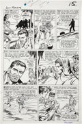 Original Comic Art:Panel Pages, Dick Ayers and Frank Giacoia Sgt. Fury #16 page 12 Original Art (Marvel, 1965)....