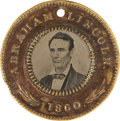Political:Ferrotypes / Photo Badges (pre-1896), Lincoln & Hamlin: Classic 1860-Dated Campaign Ferrotype. ...
