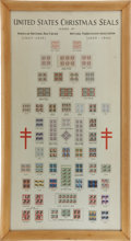 Miscellaneous:Ephemera, American Red Cross: Large Framed Collection of United StatesChristmas Seals, 1907-1941....
