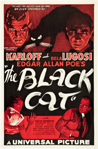"The Black Cat (Universal, 1934). One Sheet (27"" X 41"") Style B"