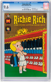 Richie Rich #57 File Copy (Harvey, 1967) CGC NM+ 9.6 Off-white to white pages