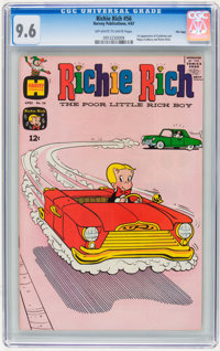 Richie Rich #56 File Copy (Harvey, 1967) CGC NM+ 9.6 Off-white to white pages