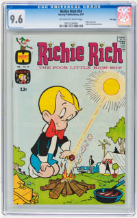 Richie Rich #54 File Copy (Harvey, 1967) CGC NM+ 9.6 Off-white to white pages