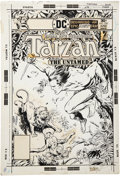 Original Comic Art:Covers, Jose Luis Garcia-Lopez and Ricardo Villagran Tarzan #250Cover Original Art (DC, 1976)....