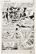 Original Comic Art:Panel Pages, Jack Kirby and Dick Ayers Journey Into Mystery #86 ThorChapter Title Page 6 featuring Odin's First Appearance Ori...