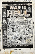Original Comic Art:Covers, John Severin War Is Hell #3 Cover Original Art (Marvel,1973)....