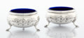 Silver Holloware, American:Open Salts, A PAIR OF AMERICAN SILVER SALTS . Maker unknown, circa 1900. Marks:STERLING. 1-3/8 x 2-3/4 inches diameter (3.5 x 7.0 c...(Total: 2 Items)