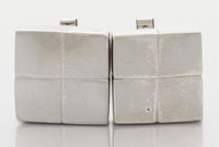 A PAIR OF MEXICAN SILVER CUFF LINKS William Spratling, Taxco, Mexico, circa 1945 Marks: SPRATLING MADE IN ME