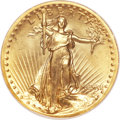 High Relief Double Eagles, 1907 $20 High Relief, Wire Rim MS65 NGC. CAC....