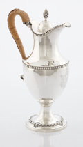 Silver Holloware, British:Holloware, A GEORGE III SILVER HOT WATER JUG. Richard Morson and BenjaminStephenson, London, England, 1772-1773. Marks: (lion passant)...
