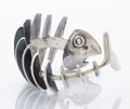 A MEXICAN SILVER FISH BANGLE Antonio Pineda, Taxco, Mexico, circa 1955 Marks: ANTONIO TAXCO (in cro