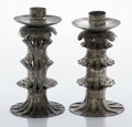 Silver Holloware, Mexican:Holloware, A PAIR OF MEXICAN TIN CANDLESTICKS. William Spratling, Taxco, Mexico, circa 1940. Marks: WS, TAXCO, MEXICO. 5-7/8 x 3-1/... (Total: 2 Items)