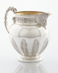 Silver Holloware, British:Holloware, A VICTORIAN SILVER AND SILVER GILT ALE PITCHER. Hunt & RoskellLtd., London, England, 1899-1900. Marks: (lion passant), (leo...