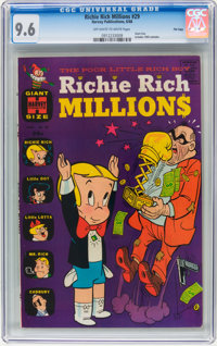 Richie Rich Millions #29 File Copy (Harvey, 1968) CGC NM+ 9.6 Off-white to white pages