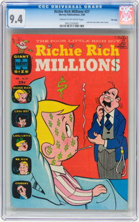 Richie Rich Millions #27 File Copy (Harvey, 1968) CGC NM 9.4 Cream to off-white pages