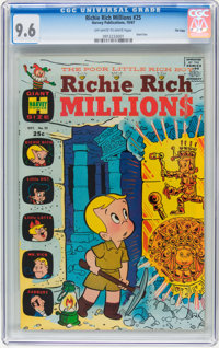 Richie Rich Millions #25 File Copy (Harvey, 1967) CGC NM+ 9.6 Off-white to white pages