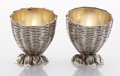 Silver Holloware, American:Open Salts, A PAIR OF AMERICAN SILVER AND SILVER GILT SALTS. GorhamManufacturing Co., Providence, Rhode Island, 1870. Marks:(lion-anch... (Total: 2 Items)