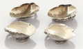 Silver Holloware, American:Open Salts, A SET OF FOUR AMERICAN SILVER AND SILVER GILT SALTS. GorhamManufacturing Co., Providence, Rhode Island, circa 1880. Marks: ...(Total: 4 Items)